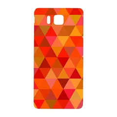 Red Hot Triangle Tile Mosaic Samsung Galaxy Alpha Hardshell Back Case