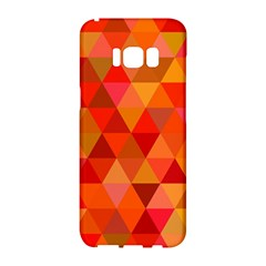 Red Hot Triangle Tile Mosaic Samsung Galaxy S8 Hardshell Case  by Nexatart