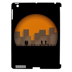 City Buildings Couple Man Women Apple Ipad 3/4 Hardshell Case (compatible With Smart Cover)