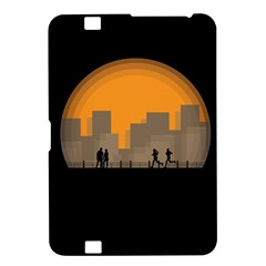 City Buildings Couple Man Women Kindle Fire Hd 8 9  by Nexatart