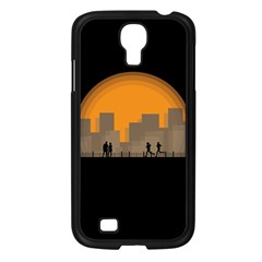 City Buildings Couple Man Women Samsung Galaxy S4 I9500/ I9505 Case (black) by Nexatart