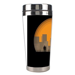 City Buildings Couple Man Women Stainless Steel Travel Tumblers by Nexatart