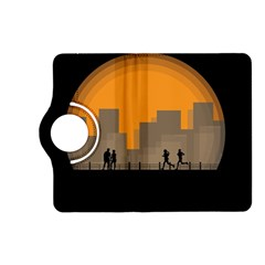 City Buildings Couple Man Women Kindle Fire Hd (2013) Flip 360 Case by Nexatart