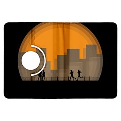 City Buildings Couple Man Women Kindle Fire Hdx Flip 360 Case