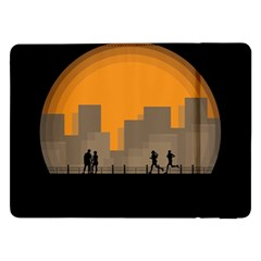 City Buildings Couple Man Women Samsung Galaxy Tab Pro 12 2  Flip Case