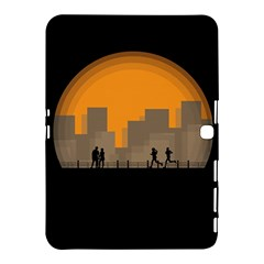 City Buildings Couple Man Women Samsung Galaxy Tab 4 (10 1 ) Hardshell Case