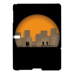 City Buildings Couple Man Women Samsung Galaxy Tab S (10 5 ) Hardshell Case  by Nexatart