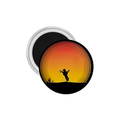 Horse Cowboy Sunset Western Riding 1 75  Magnets