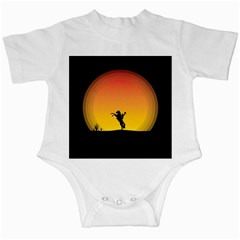 Horse Cowboy Sunset Western Riding Infant Creepers