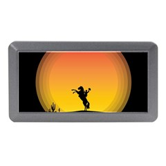 Horse Cowboy Sunset Western Riding Memory Card Reader (mini)