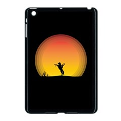 Horse Cowboy Sunset Western Riding Apple Ipad Mini Case (black)