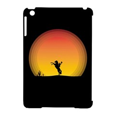 Horse Cowboy Sunset Western Riding Apple Ipad Mini Hardshell Case (compatible With Smart Cover) by Nexatart