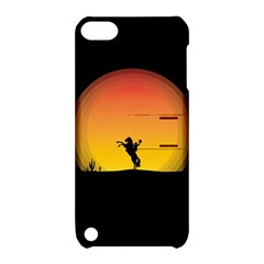 Horse Cowboy Sunset Western Riding Apple Ipod Touch 5 Hardshell Case With Stand