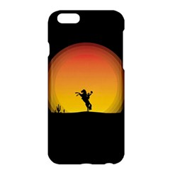 Horse Cowboy Sunset Western Riding Apple Iphone 6 Plus/6s Plus Hardshell Case by Nexatart