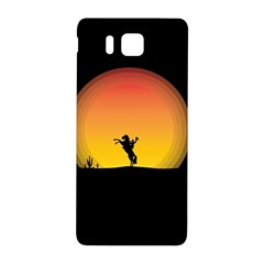 Horse Cowboy Sunset Western Riding Samsung Galaxy Alpha Hardshell Back Case