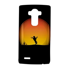 Horse Cowboy Sunset Western Riding Lg G4 Hardshell Case by Nexatart