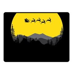 Christmas Dear Santa Claus Card Fleece Blanket (small) by Nexatart