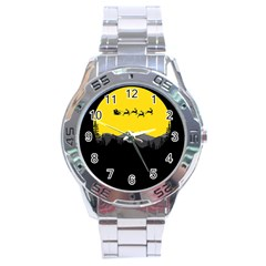 Christmas Dear Santa Claus Card Stainless Steel Analogue Watch