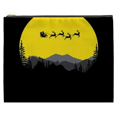 Christmas Dear Santa Claus Card Cosmetic Bag (xxxl)  by Nexatart