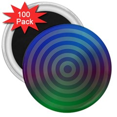 Blue Green Abstract Background 3  Magnets (100 Pack)