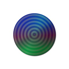 Blue Green Abstract Background Rubber Coaster (round)