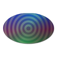Blue Green Abstract Background Oval Magnet