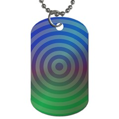 Blue Green Abstract Background Dog Tag (one Side) by Nexatart