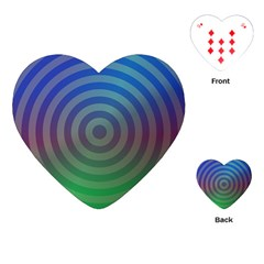Blue Green Abstract Background Playing Cards (heart)  by Nexatart