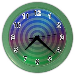 Blue Green Abstract Background Color Wall Clocks