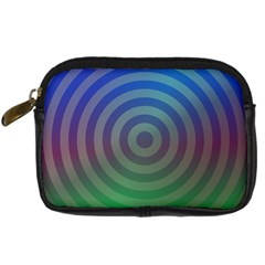 Blue Green Abstract Background Digital Camera Cases