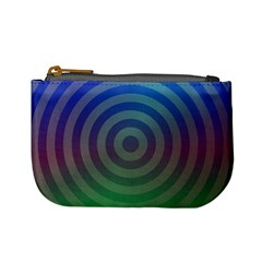 Blue Green Abstract Background Mini Coin Purses by Nexatart