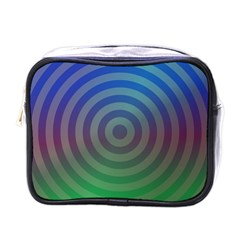Blue Green Abstract Background Mini Toiletries Bags