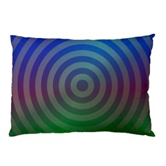 Blue Green Abstract Background Pillow Case (two Sides)