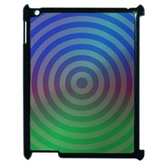 Blue Green Abstract Background Apple Ipad 2 Case (black) by Nexatart