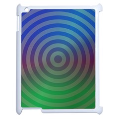 Blue Green Abstract Background Apple Ipad 2 Case (white)