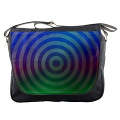 Blue Green Abstract Background Messenger Bags