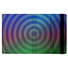 Blue Green Abstract Background Apple Ipad 3/4 Flip Case by Nexatart