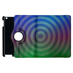 Blue Green Abstract Background Apple Ipad 2 Flip 360 Case by Nexatart