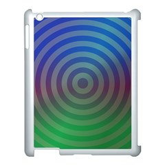 Blue Green Abstract Background Apple Ipad 3/4 Case (white)