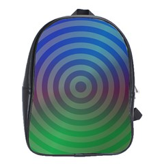 Blue Green Abstract Background School Bag (xl)