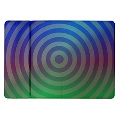 Blue Green Abstract Background Samsung Galaxy Tab 10 1  P7500 Flip Case