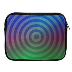 Blue Green Abstract Background Apple Ipad 2/3/4 Zipper Cases