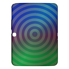 Blue Green Abstract Background Samsung Galaxy Tab 3 (10 1 ) P5200 Hardshell Case  by Nexatart