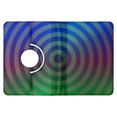 Blue Green Abstract Background Kindle Fire Hdx Flip 360 Case by Nexatart