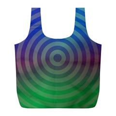 Blue Green Abstract Background Full Print Recycle Bags (l)  by Nexatart