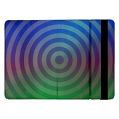Blue Green Abstract Background Samsung Galaxy Tab Pro 12 2  Flip Case by Nexatart