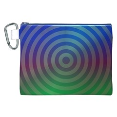 Blue Green Abstract Background Canvas Cosmetic Bag (xxl) by Nexatart