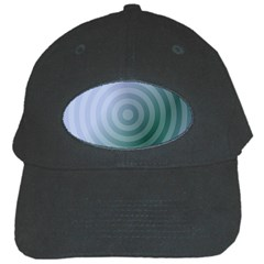 Teal Background Concentric Black Cap by Nexatart