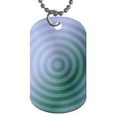 Teal Background Concentric Dog Tag (one Side) by Nexatart
