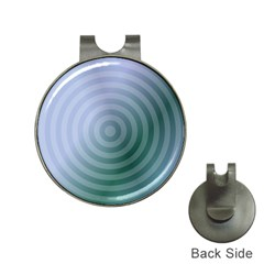 Teal Background Concentric Hat Clips With Golf Markers